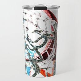 basketball art swoosh vs 7 Travel Mug