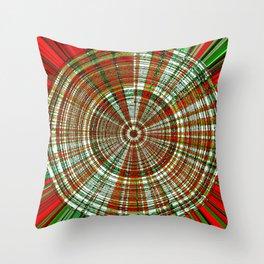 Holiday Bullseye Throw Pillow