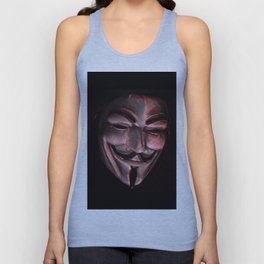 Guy Fawkes Poly Shadow Mask Unisex Tank Top