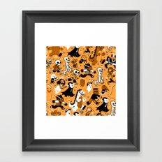 Monster March (Orange) Framed Art Print