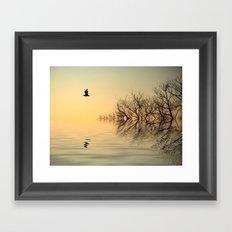 Dusk Flight 2 Framed Art Print