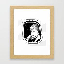 Fly alone Framed Art Print