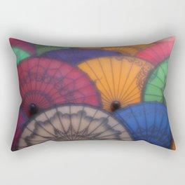 Burmese Old Paper Parasol Rectangular Pillow
