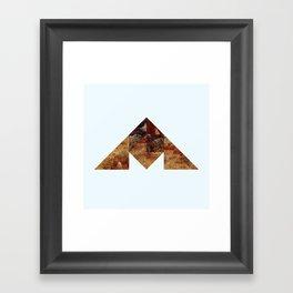 COAL MOUNTAIN Framed Art Print