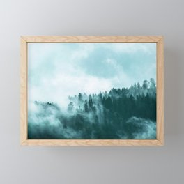 Clear away the fog to see the light. Turquoise Framed Mini Art Print