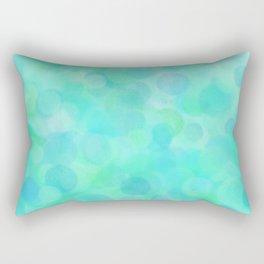Aqua Lime Beach Glass Dots Rectangular Pillow