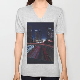 Night Lights Unisex V-Neck