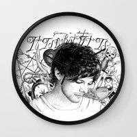tattoos Wall Clocks featuring Tattoos - L by wreckthisjessy