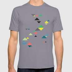 Triangles Mens Fitted Tee 2X-LARGE Slate