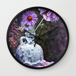 In a Purple Garden Wall Clock