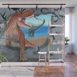 Prehistoric Dinosaur Tyrannosaurus Enters the 21st Century Wall Mural