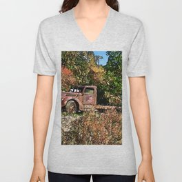 Old Trucker's Ride - Big Rig Truck Unisex V-Neck