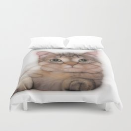 kitten cat posing for portret Duvet Cover