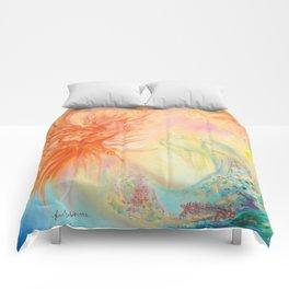 Phoenix, mysterious birds, parrots Comforters