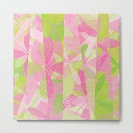 Abstract Floral Pattern - Spring Botanic Garden Metal Print