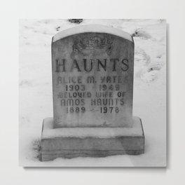 Resting Haunts Metal Print