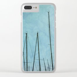 sail boat on lake Clear iPhone Case