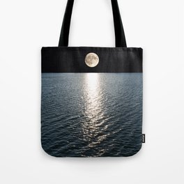 Ocean Moonlight | Moon Photography | Stars and Ocean | Night sky Tote Bag