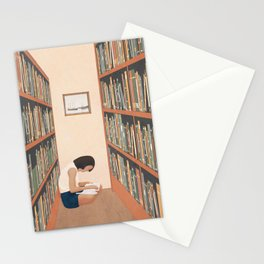 Getting Lost in a Book Stationery Cards