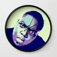biggie Wall Clocks featuring Biggie by victorygarlic - Niki