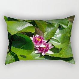 Lotus garden nature photo Rectangular Pillow