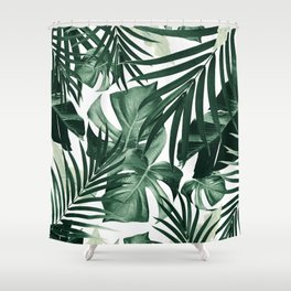 Tropical Jungle Leaves Pattern #4 #tropical #decor #art #society6 Shower Curtain