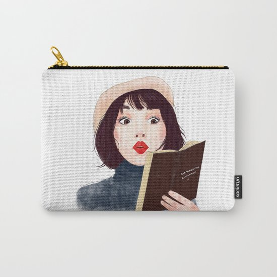 French woman with book Carry-All Pouch