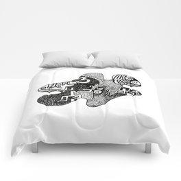 her piece  Comforters