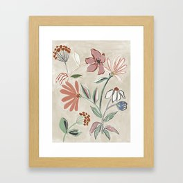 Monday Floral Framed Art Print