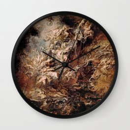 Peter Paul Rubens's The Fall of the Damned Wall Clock