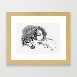 Warbot Sketch #042 Framed Art Print