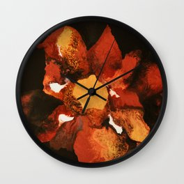 Flower of my soul Wall Clock