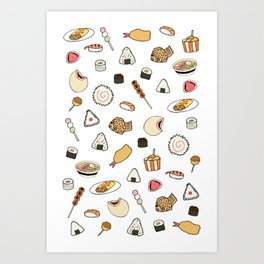 Popular Japanese Food Art Print
