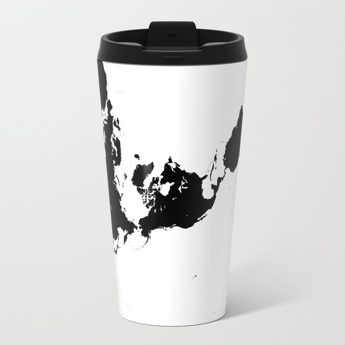 Dymaxion world map fuller projection map minimalist black on dymaxion world map fuller projection map minimalist black on white travel mug sciox Image collections