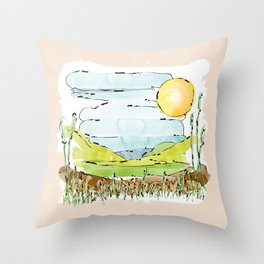 Secret spot in the countryside Throw Pillow