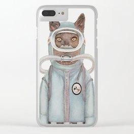 Scuba Cat Clear iPhone Case