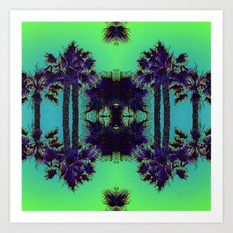 Hawaiian Neon Summer Nights Art Print