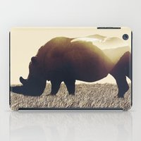 rhino iPad Cases featuring Rhino by Yaroslav Greb