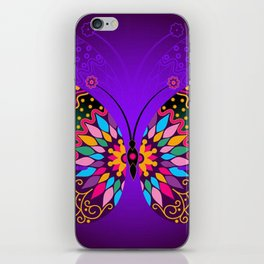 Colorful Butterflies and Flowers V23 iPhone Skin