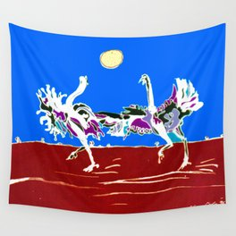 Ostriches, AUSTRALIA                                            by Kay Lipton Wall Tapestry