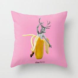 going banana dancer Throw Pillow