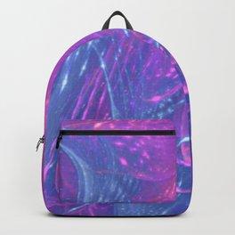 Blue Magenta Asymmetric Fractal Backpack