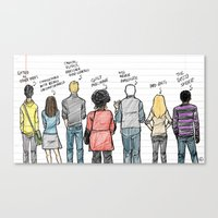 community Canvas Prints featuring COMMUNITY by Dan Lee Design Studio
