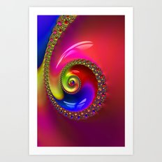 Fractal Shell Colorful Art Print