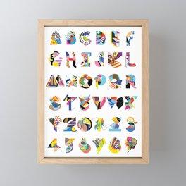 AMP Noise collage alphabet (white poster) Framed Mini Art Print
