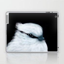 White Bird Black Background #decor #society6 #buyart Laptop & iPad Skin