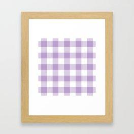 Lavender Gingham Pattern Framed Art Print