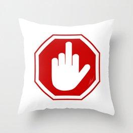 DAMAGED STOP SIGN Throw Pillow