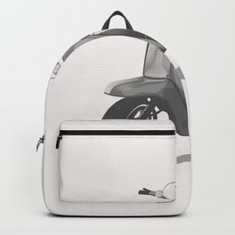 Vintage Scooter black and white Backpack