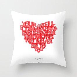 Roger Ebert Quote Throw Pillow